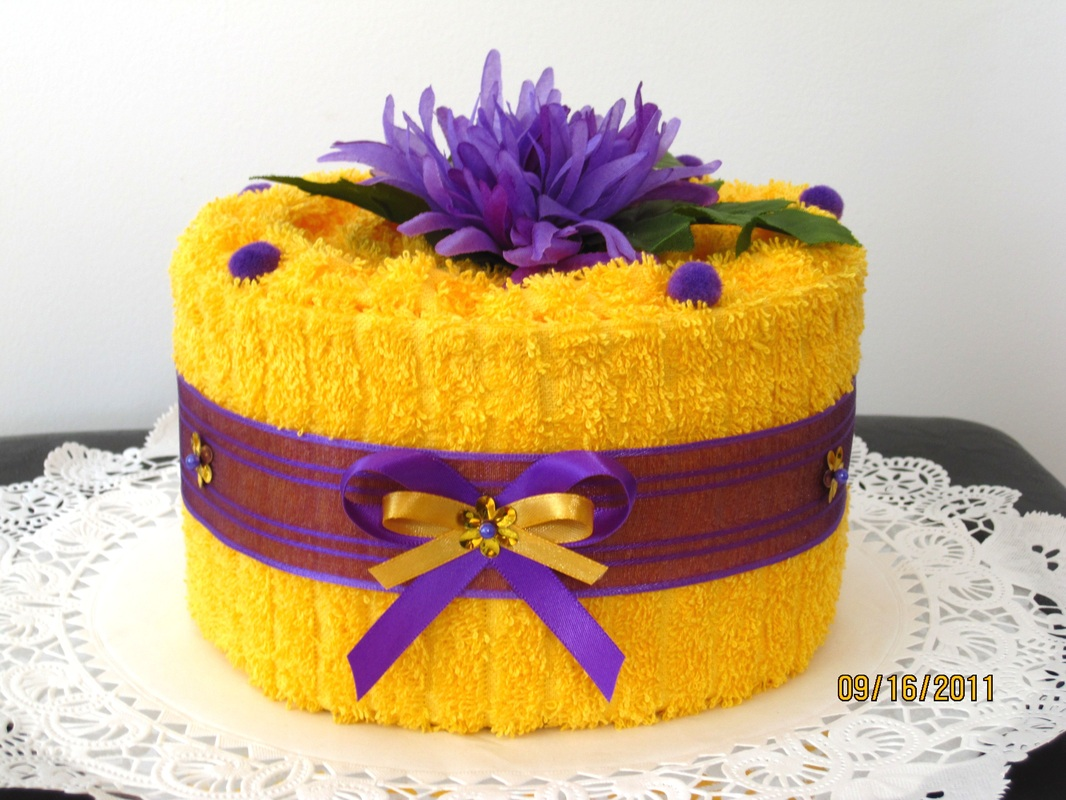 Yellow And Purple Birthday Cake Www Pixshark Com